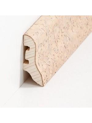 Südbrock Sockelleiste mit Kork ummanteltem Holzkern, lackiert Kork creme grob 20 x 40 mm, Länge 2500 mm, günstig Leisten Sockel Profile online kaufen von Hersteller Südbrock HstNr: sbs224055
