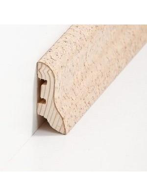 Südbrock Sockelleiste mit Kork ummanteltem Holzkern, lackiert Kork creme schlicht 20 x 40 mm, Länge 2500 mm, günstig Leisten Sockel Profile online kaufen von Hersteller Südbrock HstNr: sbs224054