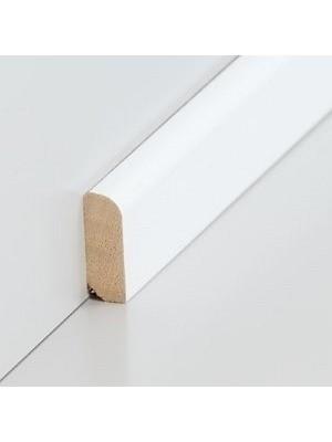 Südbrock Sockelleiste Vorsatzleiste decked weiß aus Massivholz 8 x 22 mm