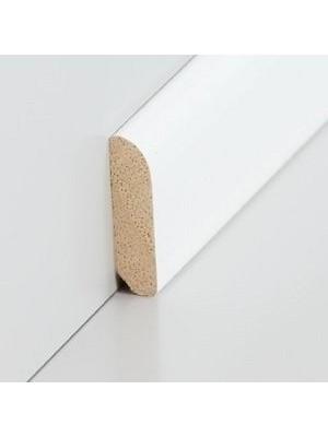 Südbrock Sockelleiste Vorsatzleiste decked weiß aus Massivholz 8 x 28 mm