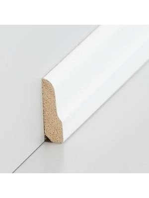 Südbrock Sockelleiste Vorsatzleiste decked weiß aus Massivholz 8 x 26 mm