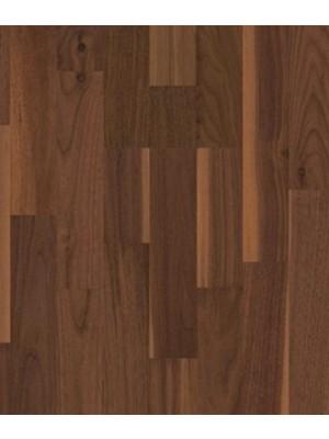 Weitzer Parkett WP Charisma 2-Stab 3-Schicht Fertigparkett, ProStrong lackiert Nussbaum gedämpft lebhaft bunt, Plankenmaß 2245 x 193 mm, 14 mm Stärke, 2,60 m² pro Paket, Nutzschicht 3,6 mm günstig Parkettboden online kaufen