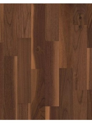 Weitzer Parkett WP Charisma 3-Stab Nussbaum gedämpft lebhaft bunt 3-Schicht Fertigparkett, ProActive+ naturmatt lackiert