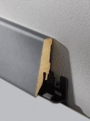 Haro Sockelleiste Aluminium Echtholz Fußbodenleiste 19 x 58 x 2200 mm