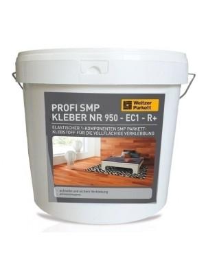 Weitzer Parkettkleber Profi-SMP Nr. 950 - EC 1 R+, Elastischer 1-Komponenten SMP-Parkettklebstoff für die vollflächige Verklebung lieferbar nur in Verbindung mit Weitzer Bodenbelag, 18 kg Eimer, Verbrauch 1800-2000 g/m², HstNr: 29614