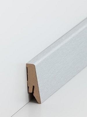 Südbrock Sockelleiste MDF Fussleiste, MDF-Kern mit Dekorfolie ummantelt Aluminium 18 x 58 mm, Länge 2,50 m, günstig Leisten Sockel Profile online kaufen von Hersteller Südbrock HstNr: sbs7185832