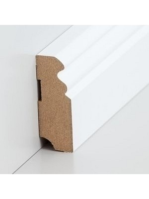 Südbrock Sockelleiste weiß Fußleiste, MDF-Kern mit Folie ummantelt