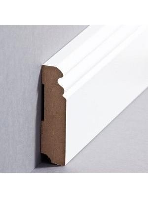 Südbrock Sockelleiste MDF weiß Fussleiste, MDF-Kern mit Folie ummantelt
