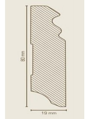 Südbrock Sockelleiste Bronze Fußleiste, MDF-Kern mit Dekorfolie ummantelt