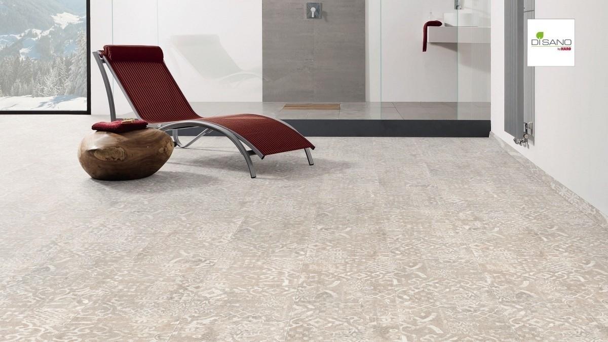 Bodenbelag HARO Disano SmartAqua im Fliesen-Design
