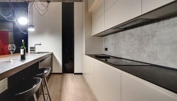 Flexible Beton Fliesen Platten Panele als Küchenrückwand mit Lotuseffekt Imprägnierung