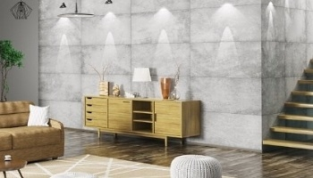 Flexible Beton Fliesen Platten Panele als Wandverkleidung statt Trockenbau