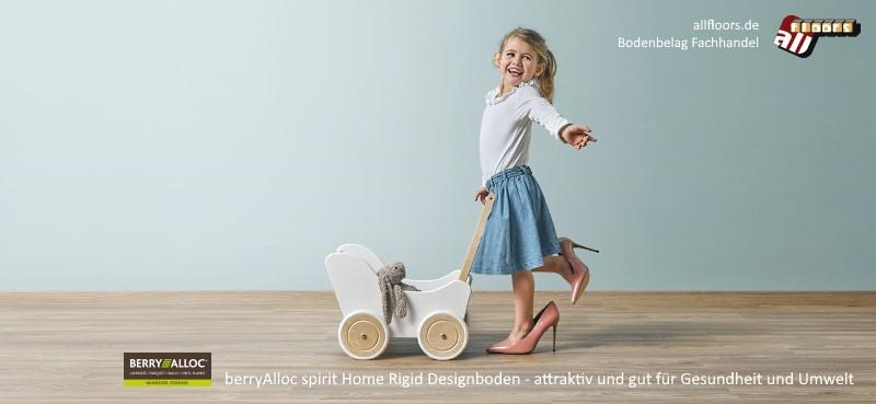 berryAlloc Spirit Home click 40 Designboden Vorteile: neueste Rigid Core Technologie, noch authentischer mit Synchronprägung, hohe Nutzungsklasse, Garantie privat 20 Jahre, integrierte Dämmunterlage, stark reduzierter Vinylanteil, hohe Formstabilität
