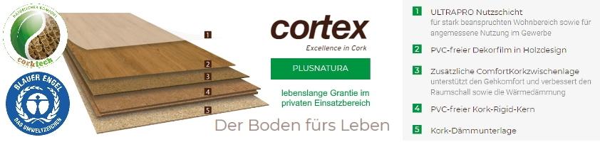 cortex plusnatura Klick Designboden Blauer Engel