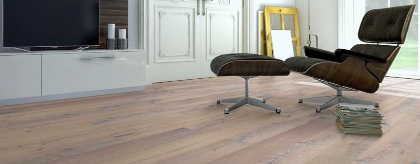 Holzboden Parkett Gunreben Landhausdiele im Wohnzimmer