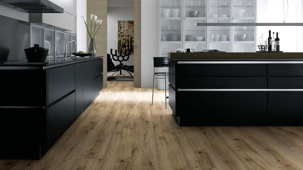 Küche renovieren und wineo 400 click wood xl DLC00126 Joy Oak Tender Designboden direkt auf alte dielen oder Fliesen verlegen