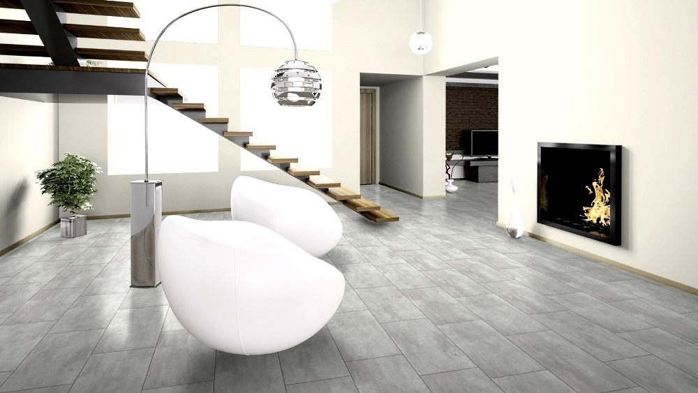 Beton Dekore: Wineo 400 Stone Click Vinyl Wisdom Concrete Dusky Designboden zum Klicken