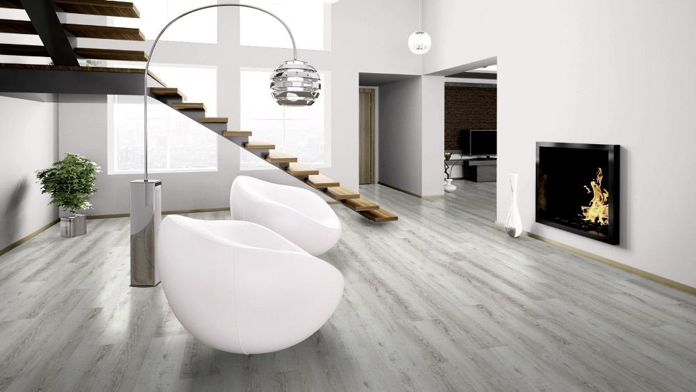 wineo 400 click wood Moonlight Pine Pale DLC00104 Desinboden mit Klicksystem Raumbild Lounge